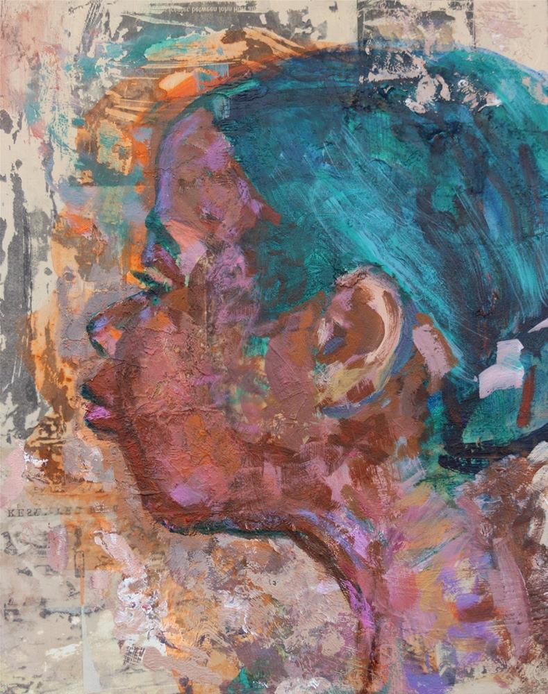 """Portrait of a Woman"" original fine art by Christine Parker"