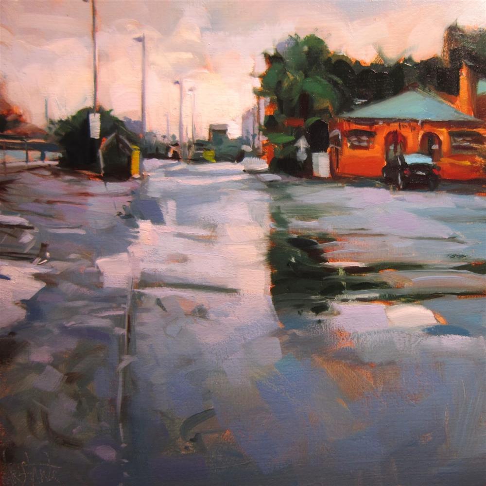 """Rainy   afternoon"" original fine art by Víctor Tristante"