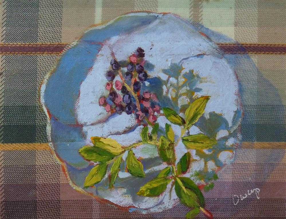 """Blueberries"" original fine art by Sharman Owings"