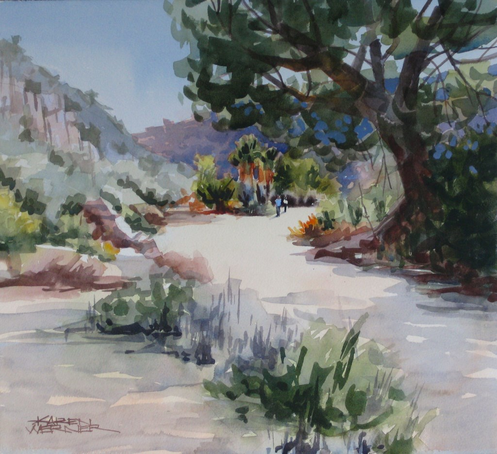 """Oasis"" original fine art by Karen Werner"