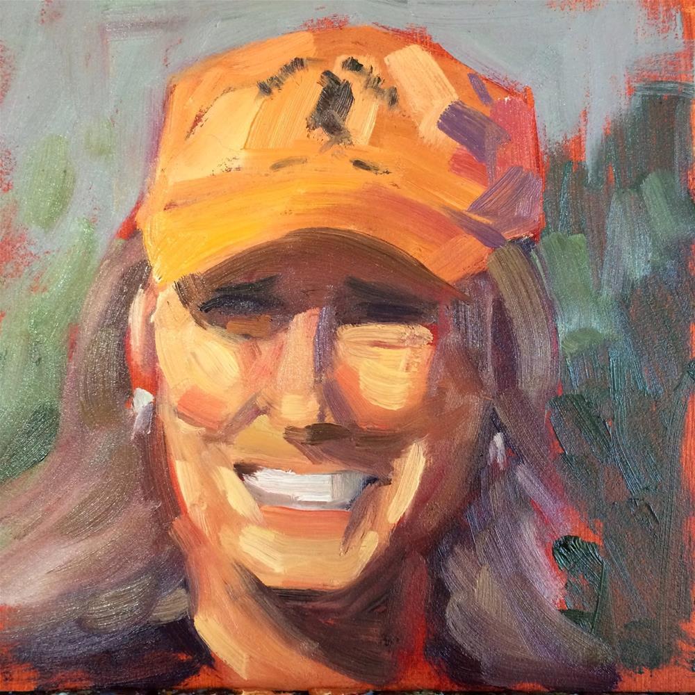 """Lisa"" original fine art by Deborah Newman"