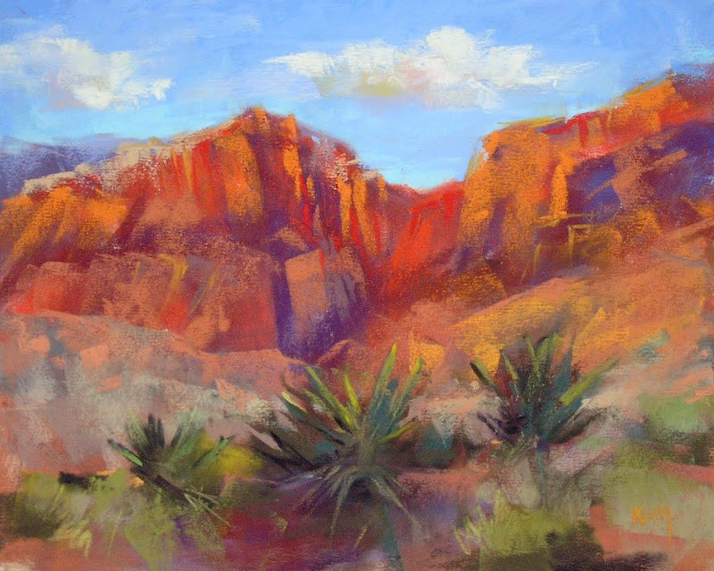 """Red Rocks are Calling"" original fine art by Karen Margulis"