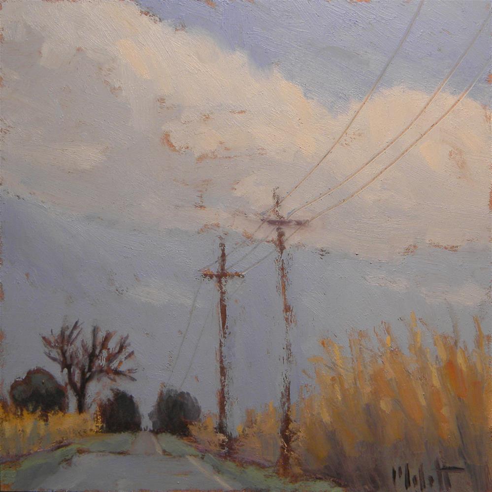 """Rural Roads Summer Skies Daily Impressionist Oil Paintings"" original fine art by Heidi Malott"