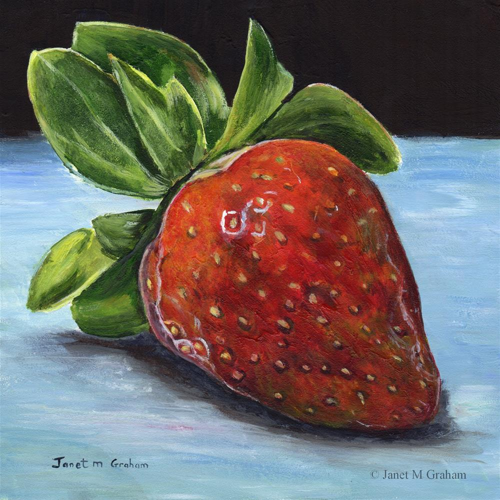 """Strawberry"" original fine art by Janet Graham"