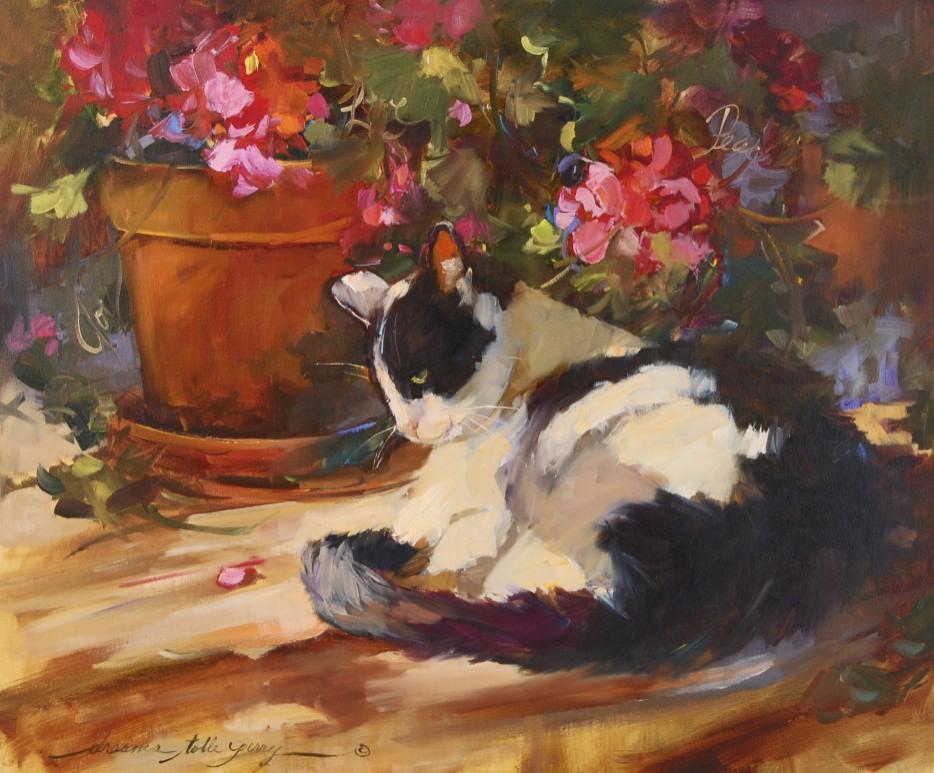 """Peace"" original fine art by Dreama Tolle Perry"