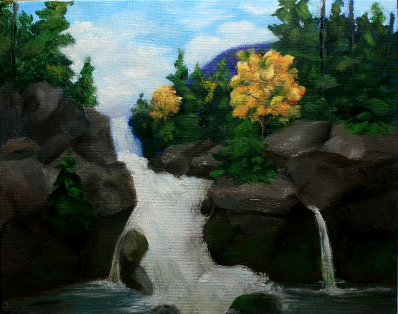 """""""Falls in Fall"""" original fine art by Jean Nelson"""