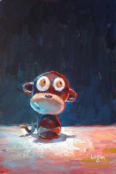 """Little Monkey"" original fine art by Raymond Logan"