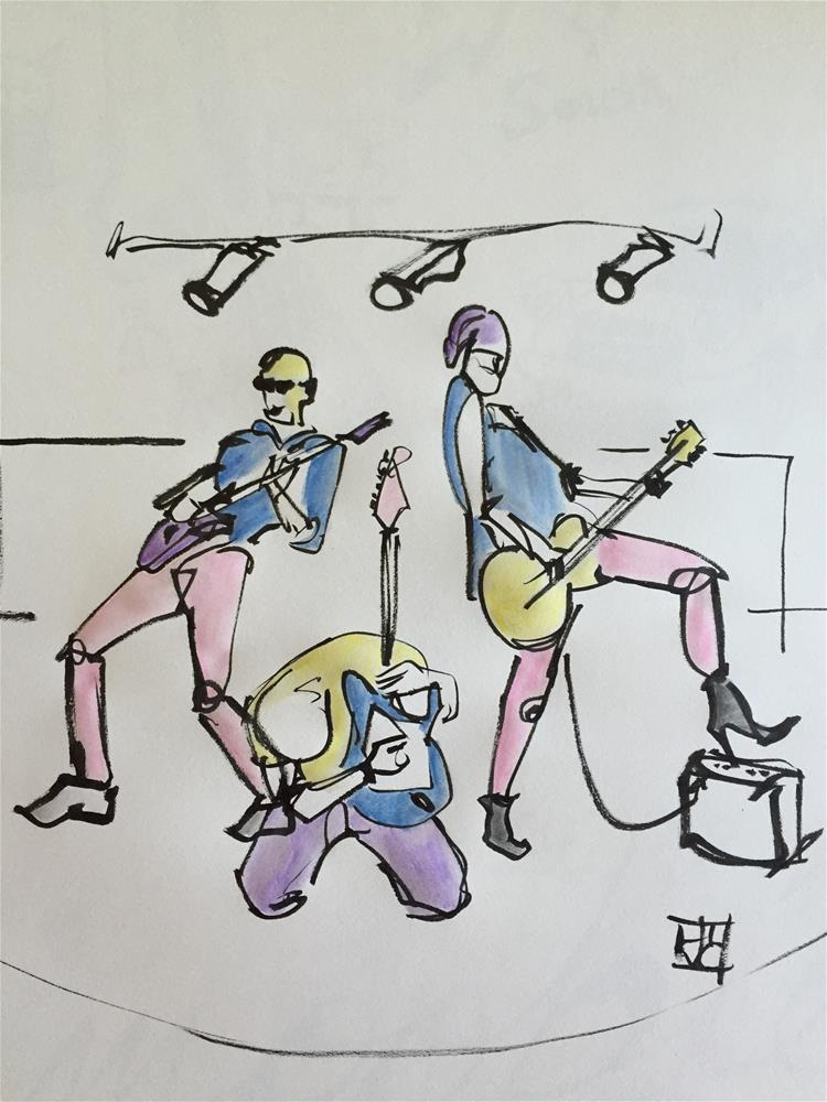 """Guitar trio"" original fine art by Arron McGuire"