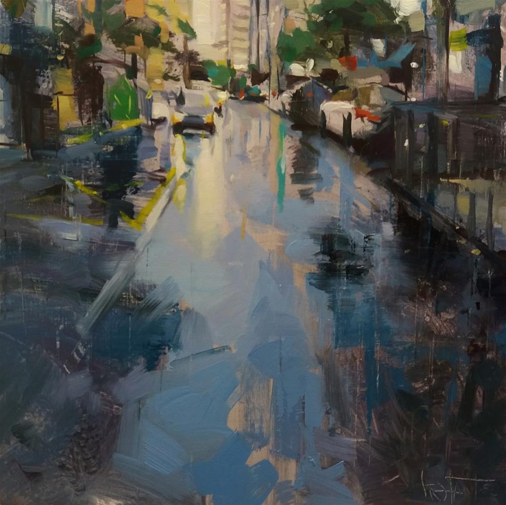 """Street reflects"" original fine art by Víctor Tristante"