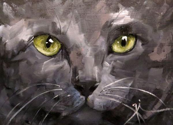 """Cat Eyes"" original fine art by Gigi ."
