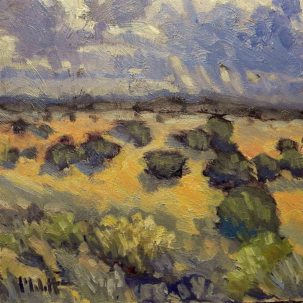 """Stormy Skies Southwest Landscape Contemporary Impressionism"" original fine art by Heidi Malott"