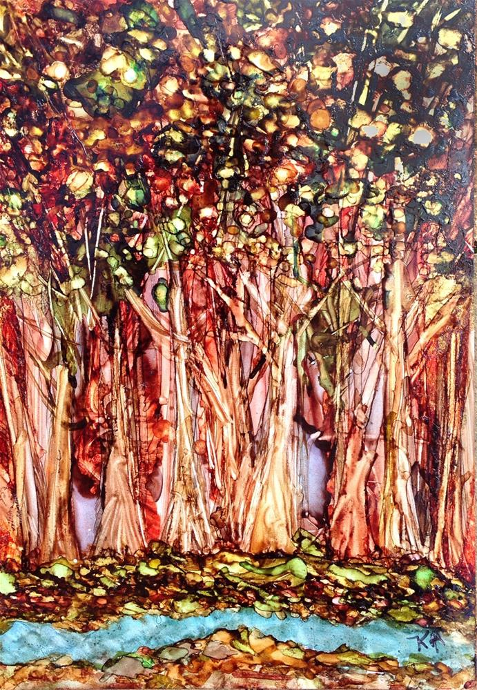 """""""Thicket by the Brook"""" original fine art by Kris Alge"""