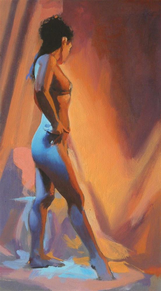 """Standing"" original fine art by Peter Orrock"