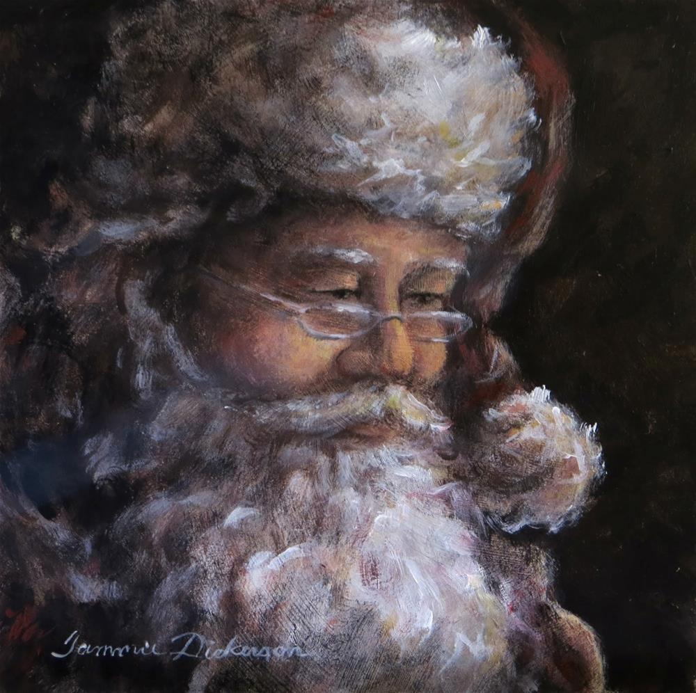 """Santa"" original fine art by Tammie Dickerson"