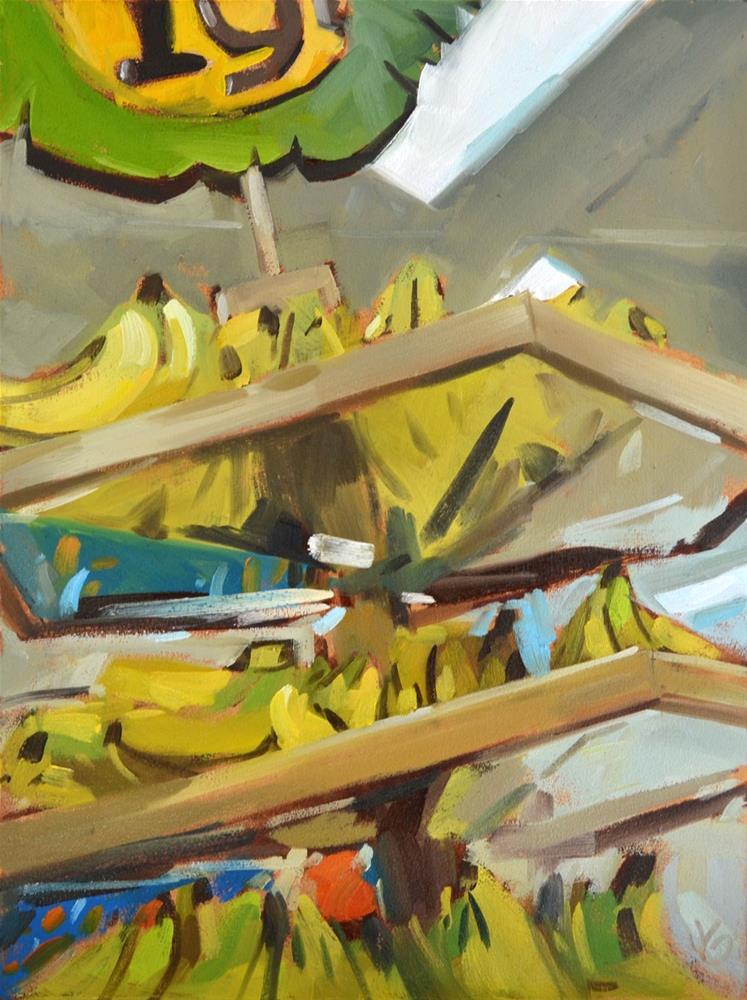 """Banana Tree"" original fine art by Jessica Green"