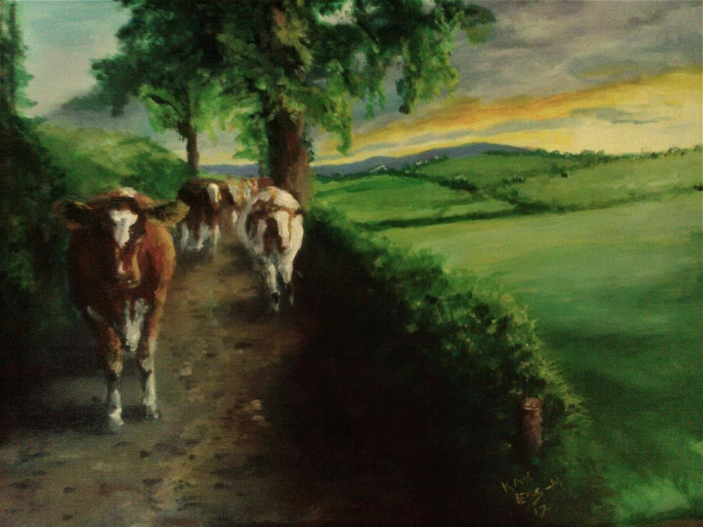 """Up The Lane"" original fine art by Kate Less-Madsen"