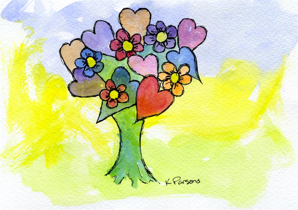 """""""Blooming Hearts"""" original fine art by Kali Parsons"""