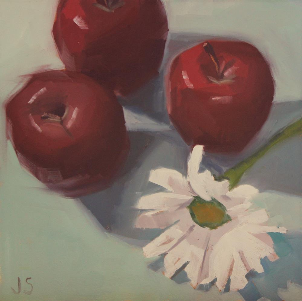 """Bashful"" original fine art by Jamie Stevens"