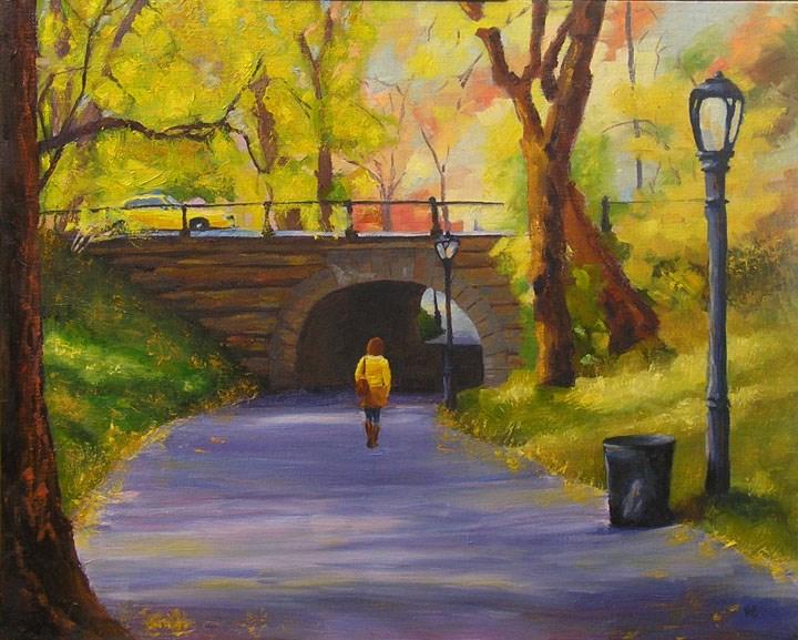 """Into the Tunnel"" original fine art by Nina Brodsky"