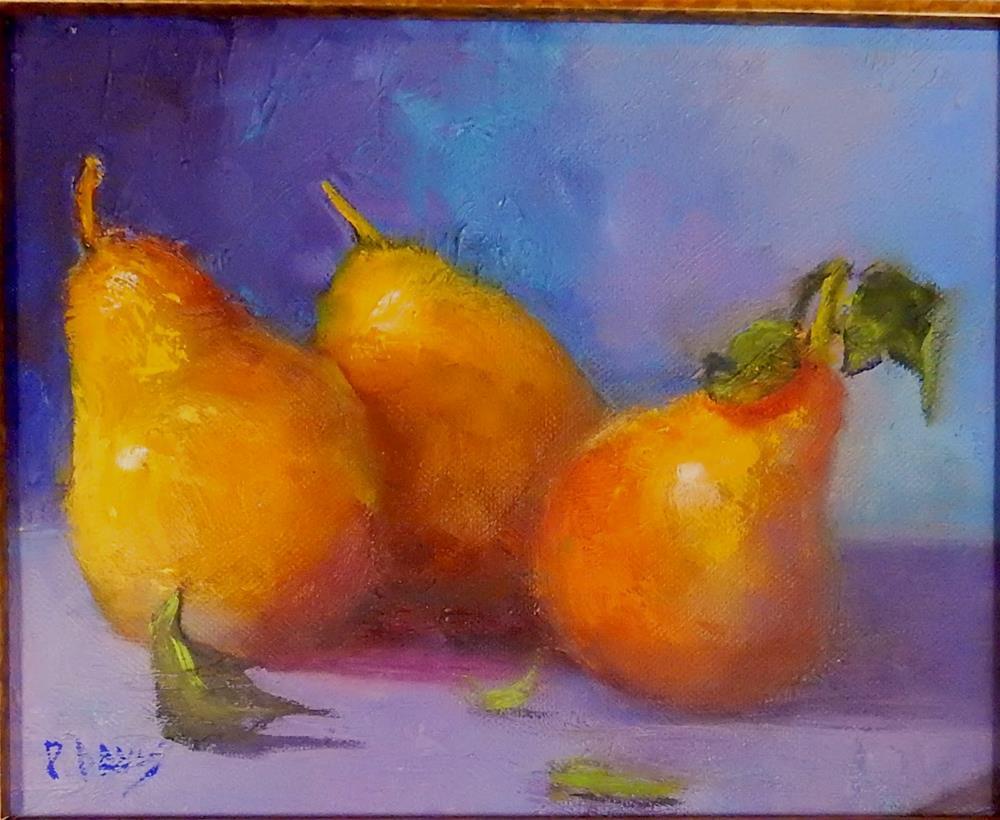 """""""Golden Fruit"""" original fine art by Phyllis Davis"""