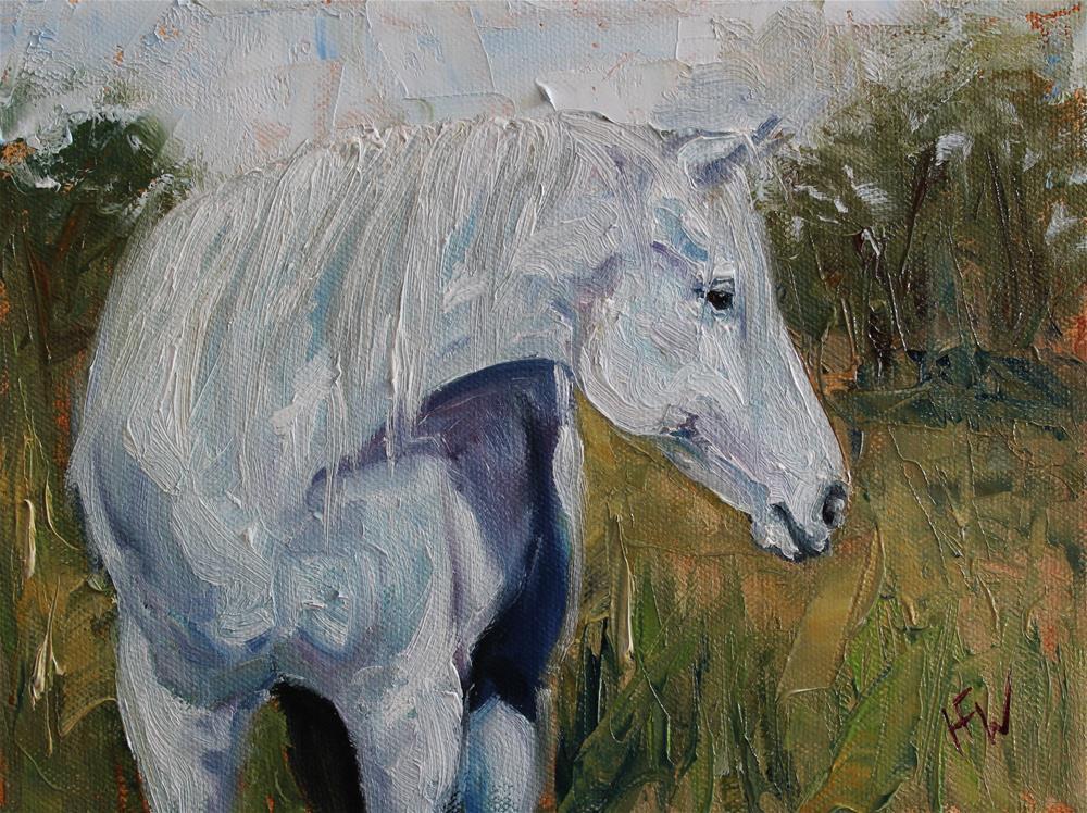 """Distracted Pony"" original fine art by H.F. Wallen"