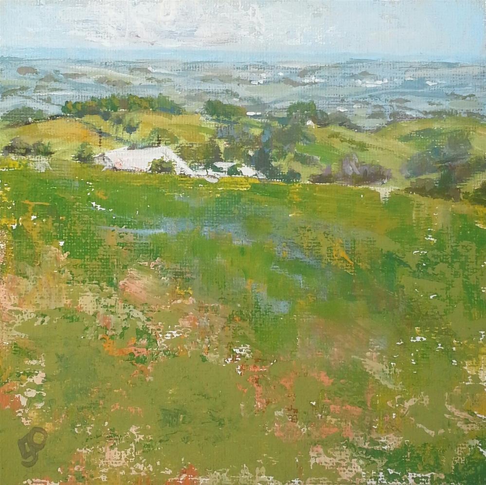 """""""Southern Vales"""" original fine art by Leanne Owen"""