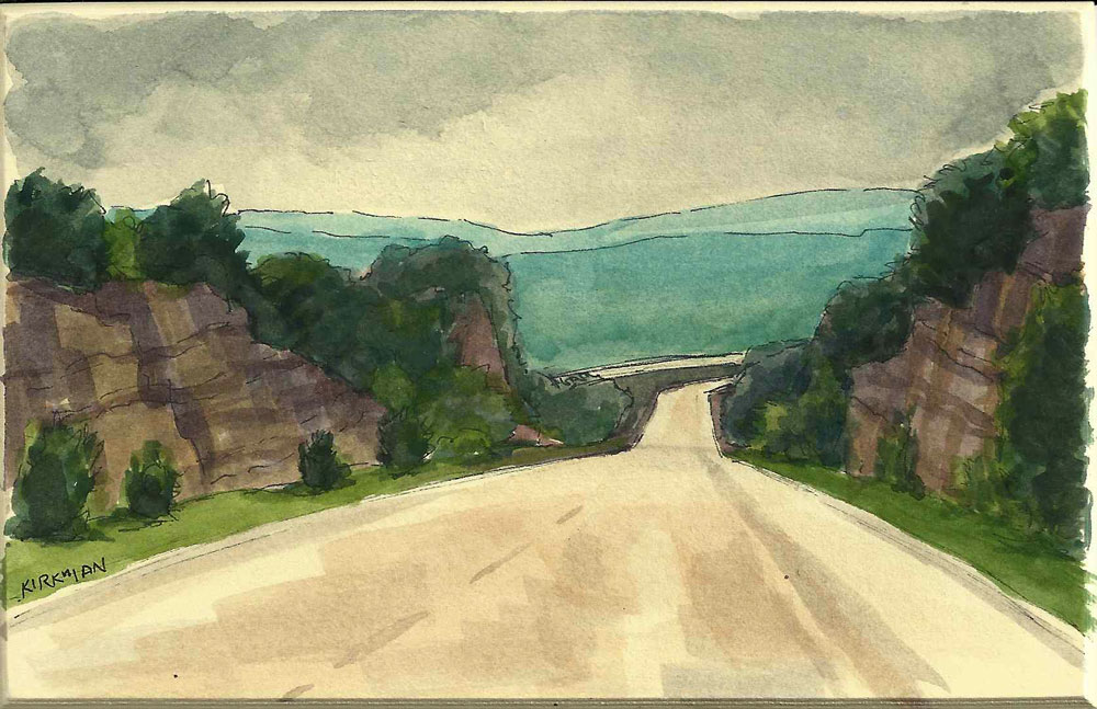 """Road Sketch 10"" original fine art by Rita Kirkman"