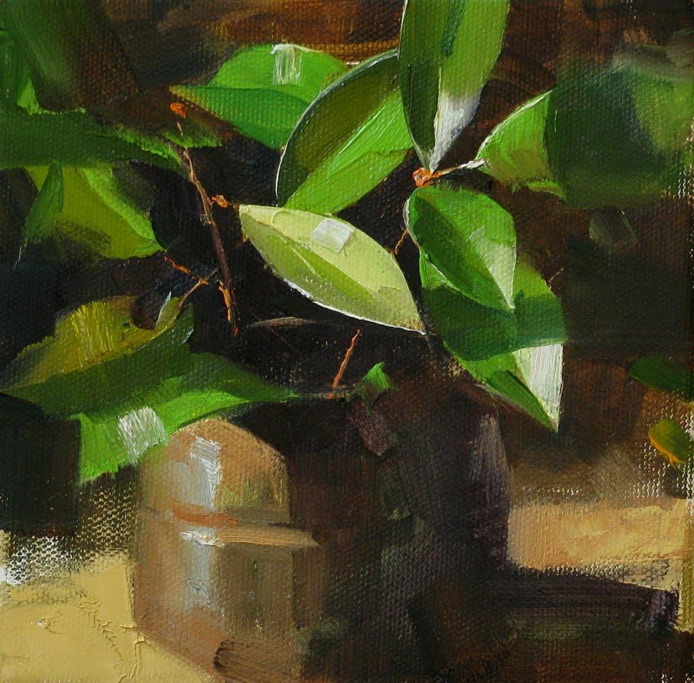 """Green Rhythm 2"" original fine art by Qiang Huang"