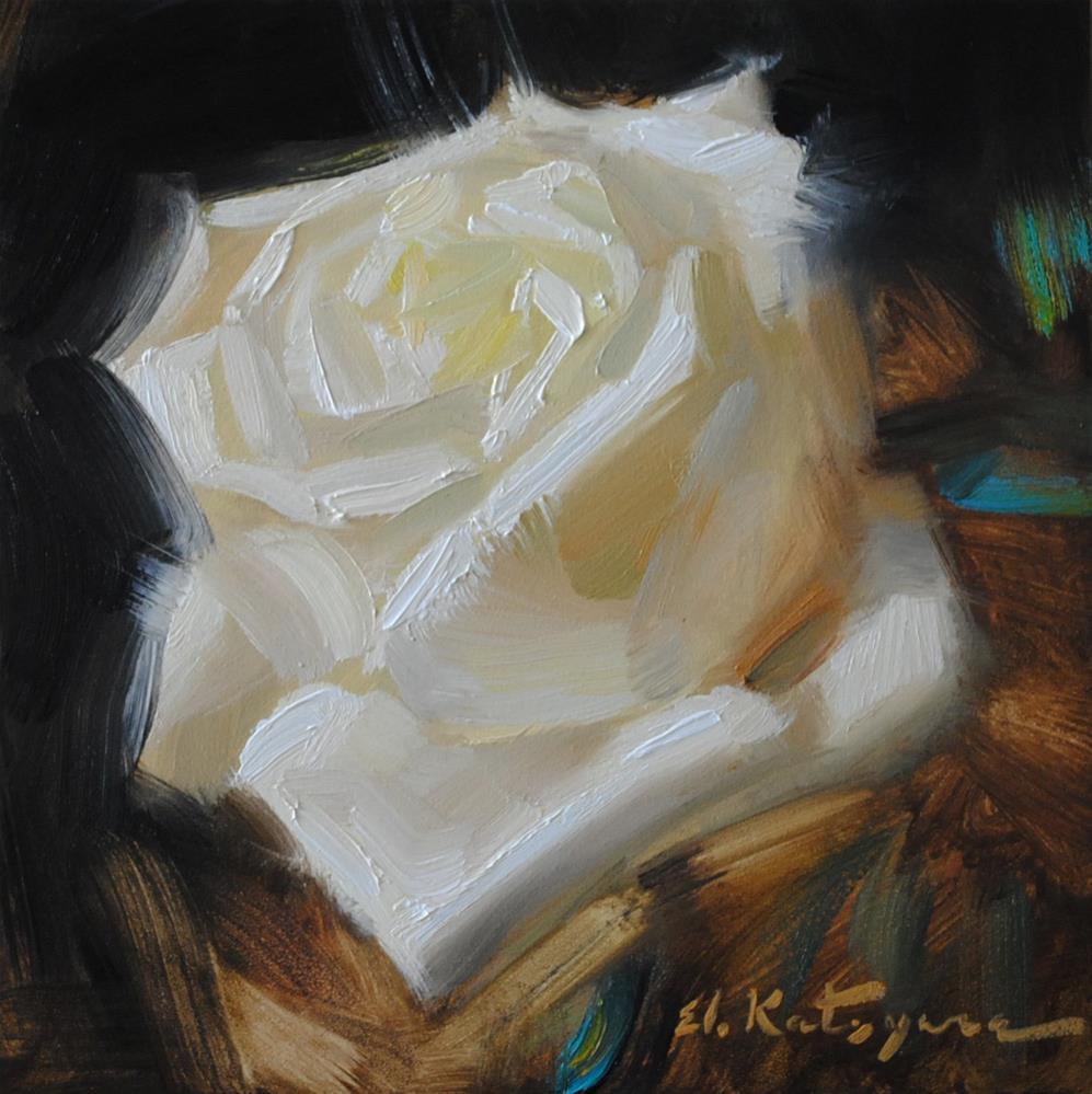 """A Rose"" original fine art by Elena Katsyura"