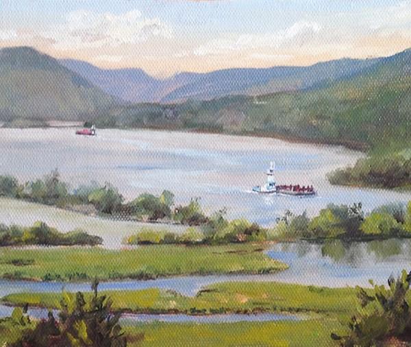 """Summer Morning on the Hudson River"" original fine art by Jamie Williams Grossman"