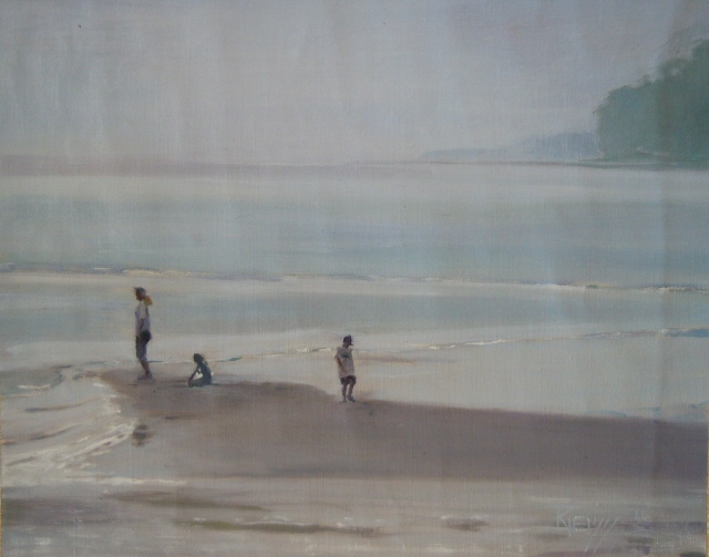 """Low Tide at Point no Point   Marine landscape painting by robin weiss"" original fine art by Robin Weiss"