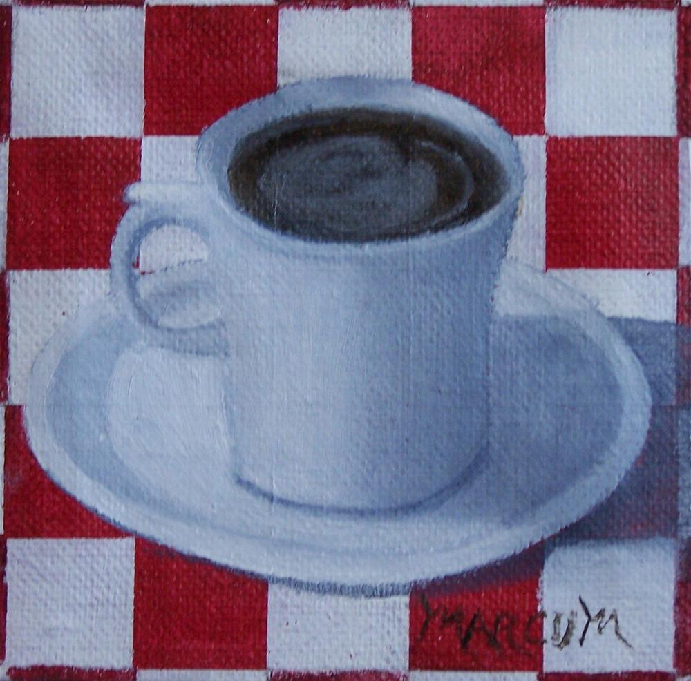 """Coffee Break"" original fine art by John Marcum"