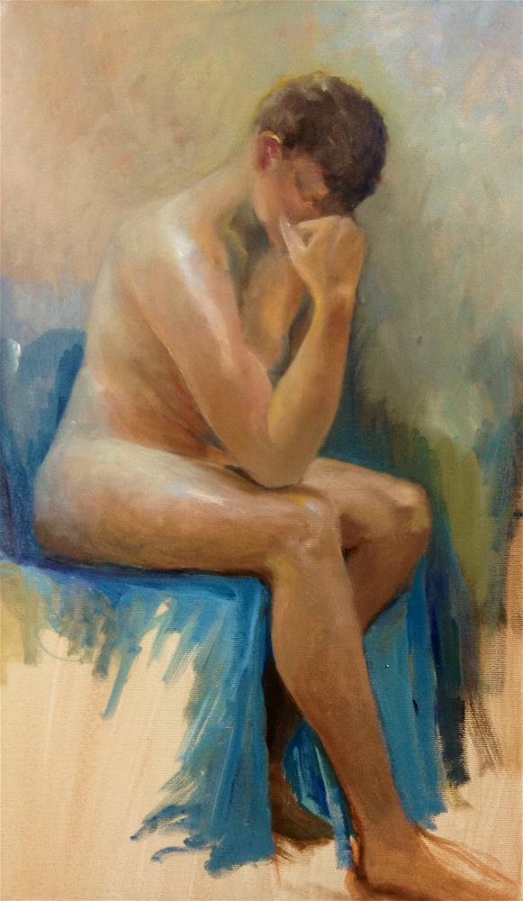 """""""Alex Unrobed"""" original fine art by Cathy Boyd"""