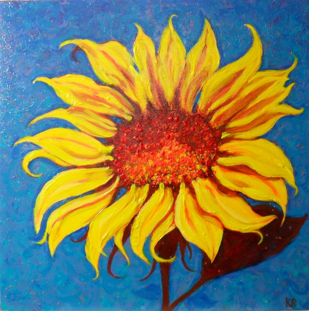 """Sunny Flower"" original fine art by Karen Roncari"