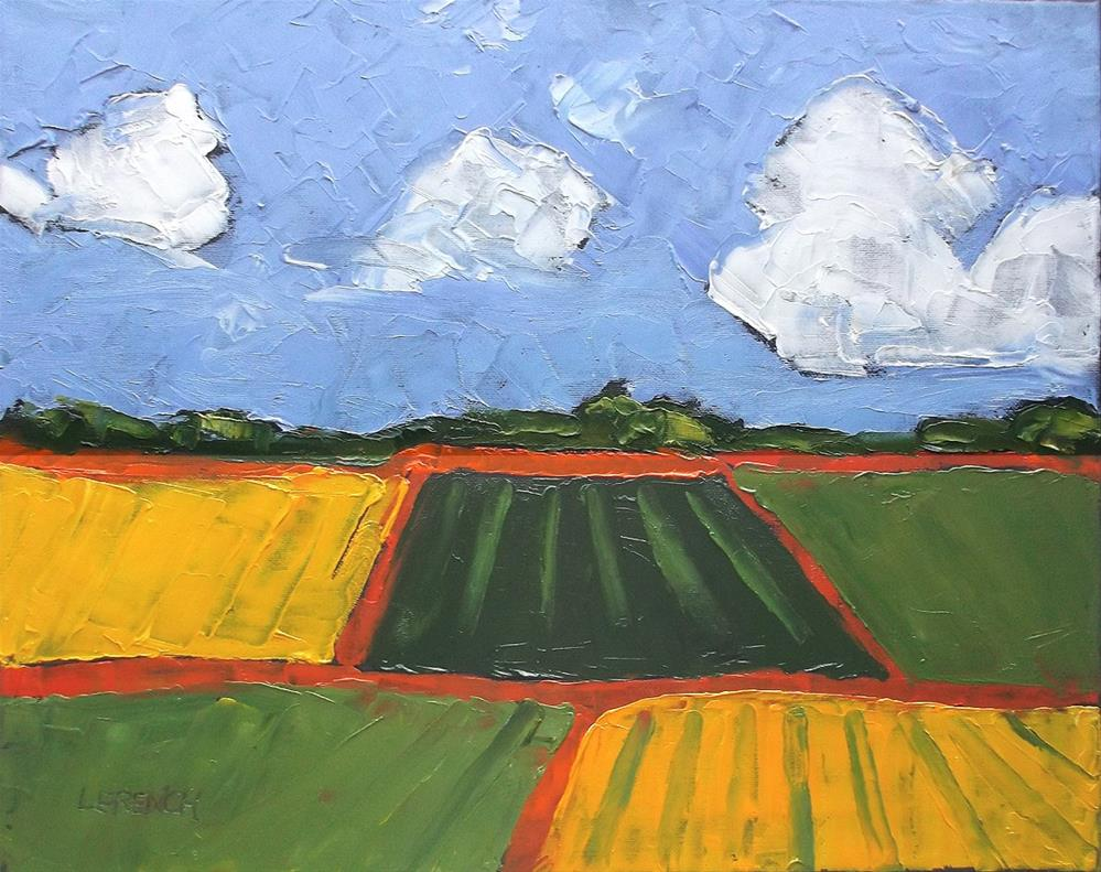 """California Farm Fields"" original fine art by lynne french"