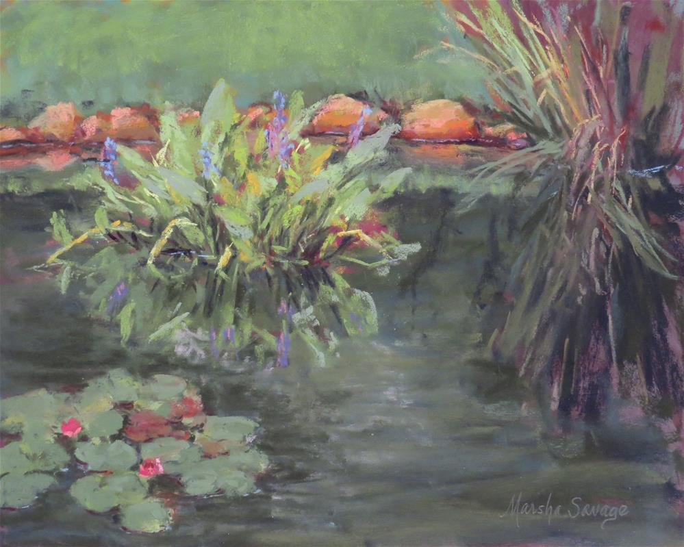 """Gibbs Lilies"" original fine art by Marsha Savage"