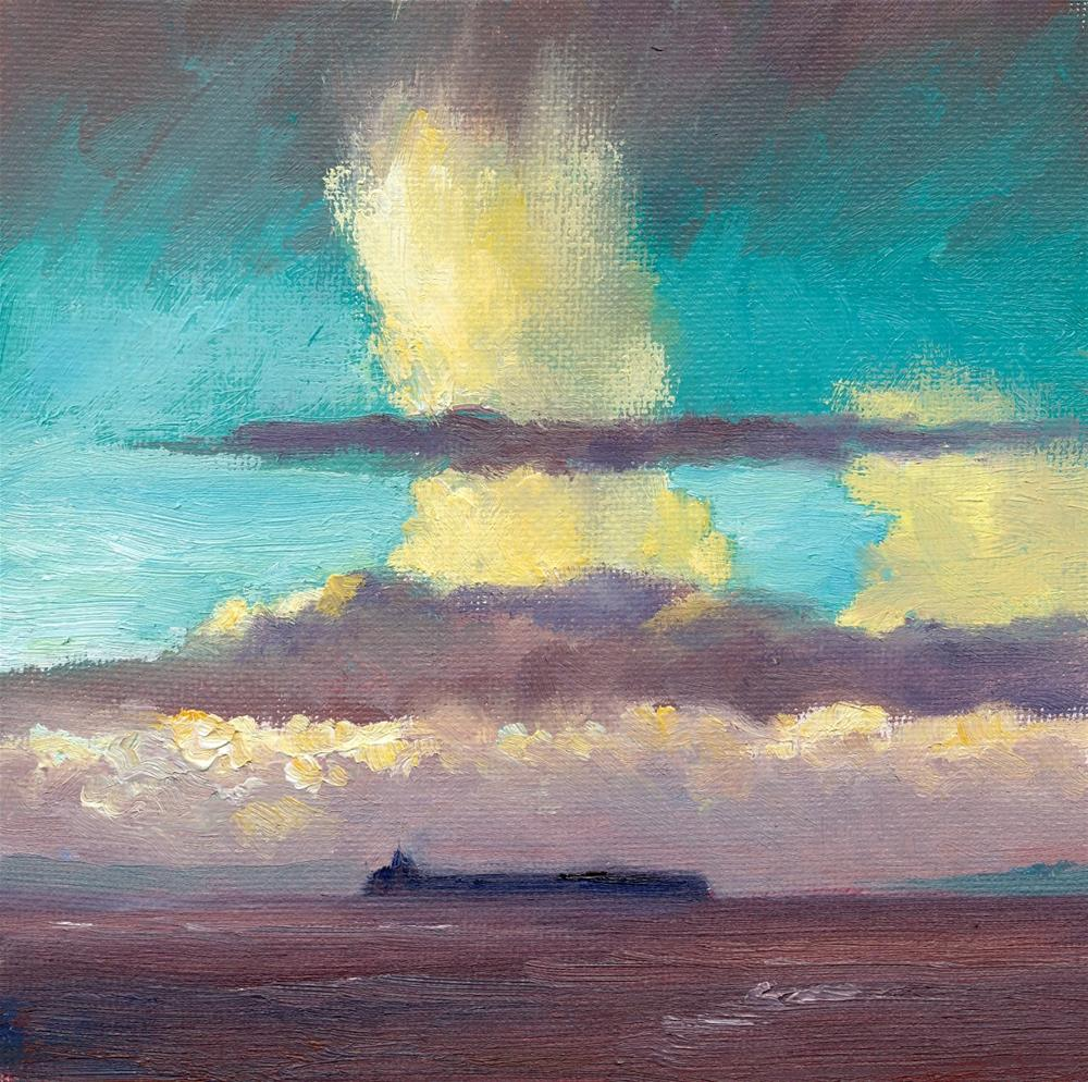 """Hailstorm Cloud"" original fine art by Christine Derrick"