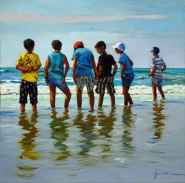 """The Boys of Summer"" original fine art by Karin Jurick"