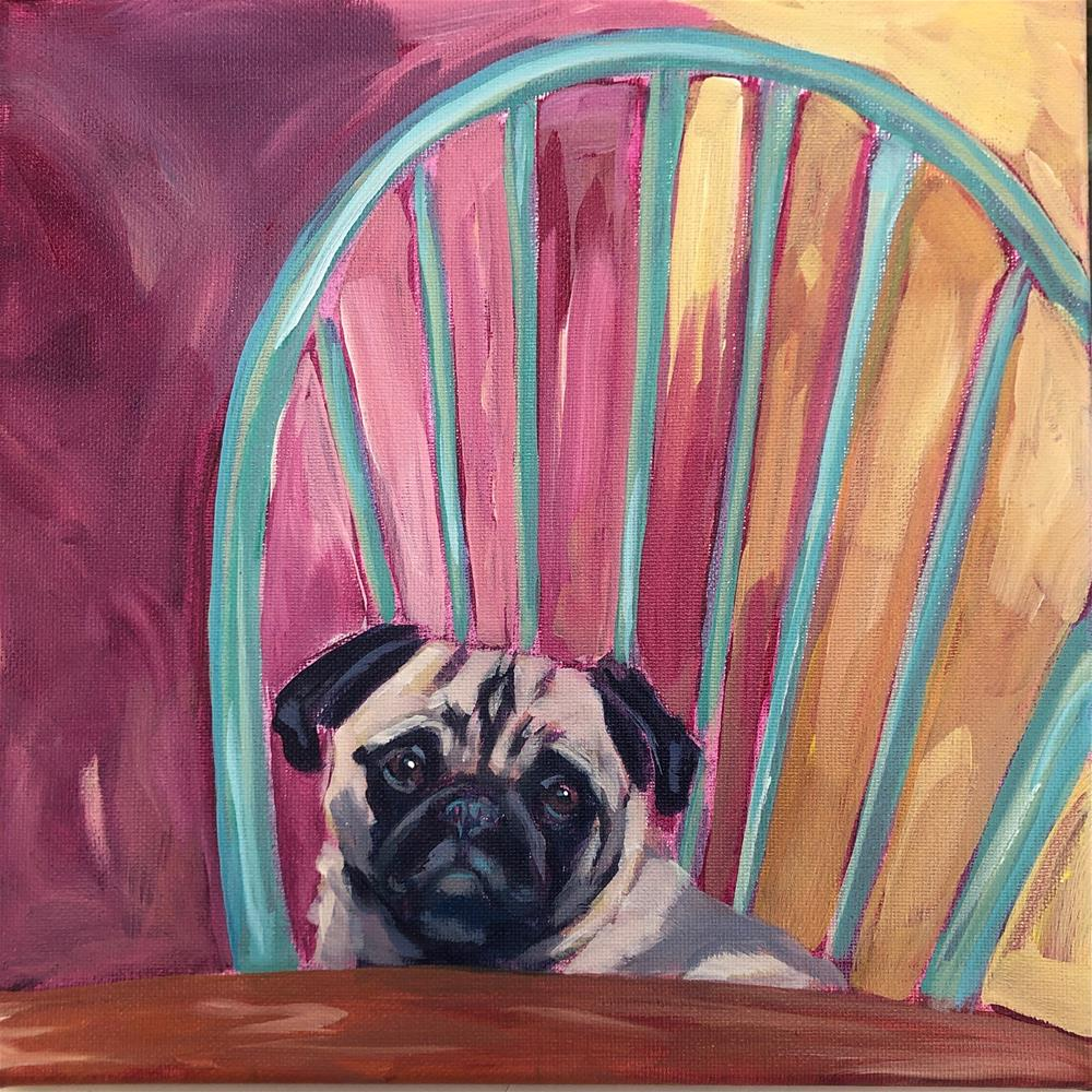 """Breakfast Buddy"" original fine art by Kat Corrigan"