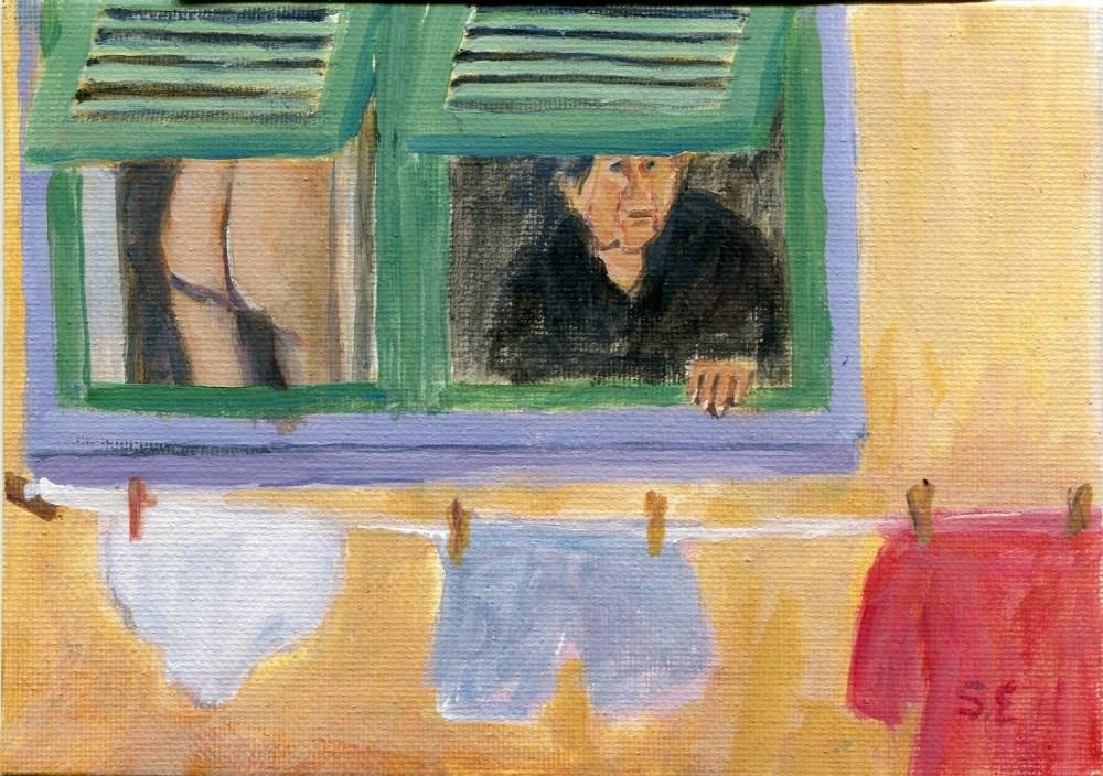 """My Laundrette"" original fine art by Stanley Epperson"
