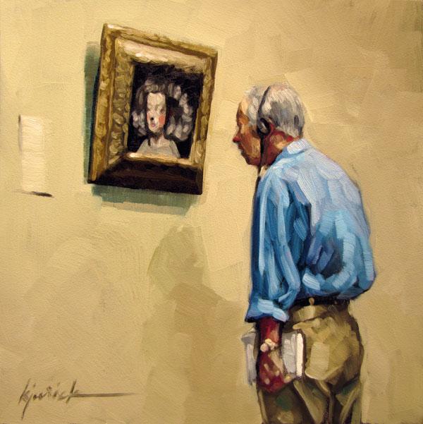 """""""Listen Up"""" original fine art by Karin Jurick"""