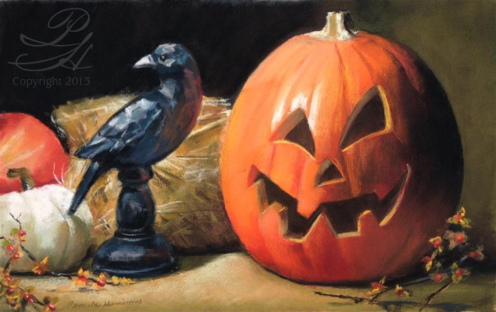 """Halloween Harvest"" original fine art by Pamela Hamilton"