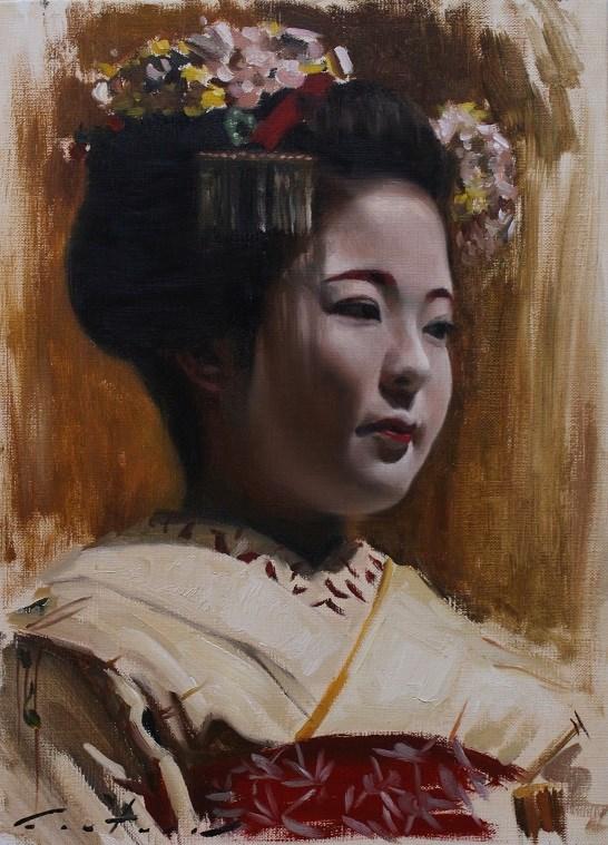 """Katsuhina"" original fine art by Phil Couture"