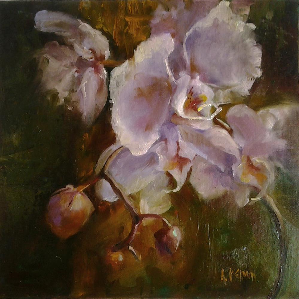 """Orchid's Perfume"" original fine art by A.K. Simon"