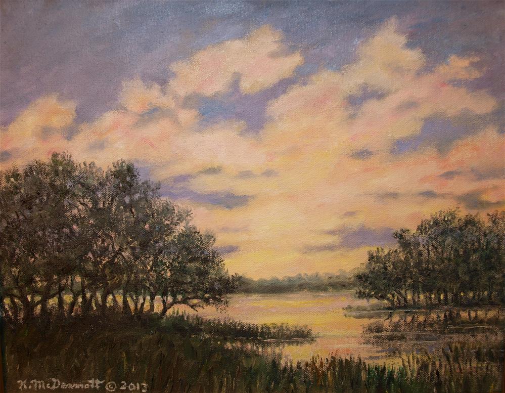 """""""Marsh Sketch # 6"""" original fine art by Kathleen McDermott"""