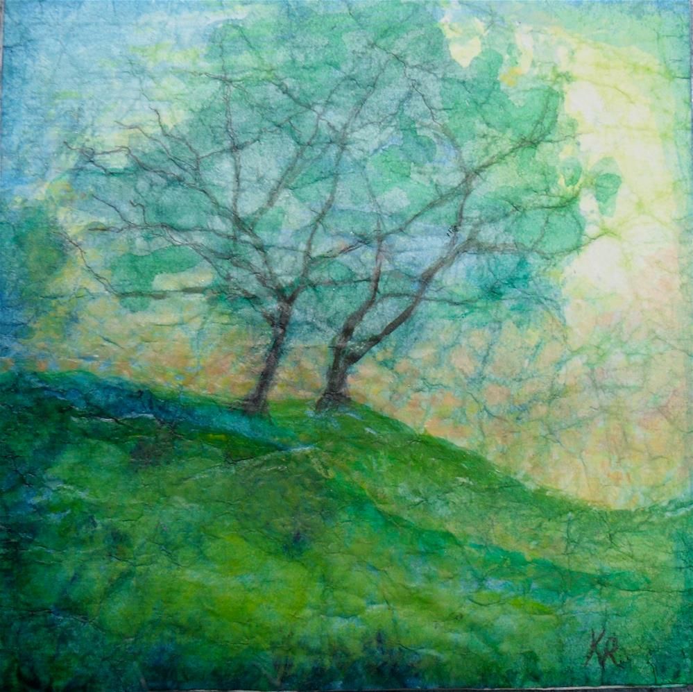 """Yonder Hill"" original fine art by Karen Roncari"