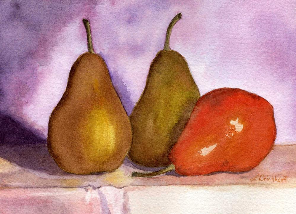 """Leaning Pear"" original fine art by Lynne Reichhart"