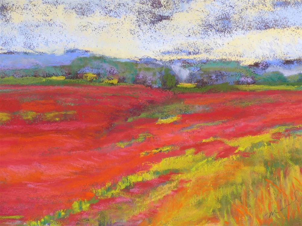 """Red Clover"" original fine art by Mary Weil"