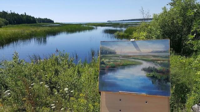 """Morning at Moonlight Bay"" original fine art by Tammie Dickerson"