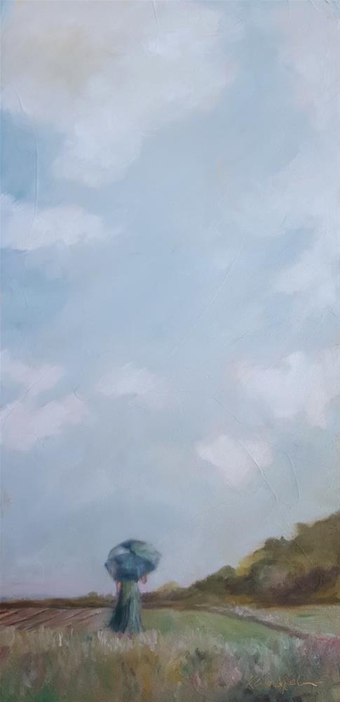 """""""Watching the Sky"""" original fine art by Karen Weber"""